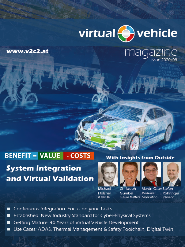 VIRTUAL VEHICLE Magazin 08/2020-Cover